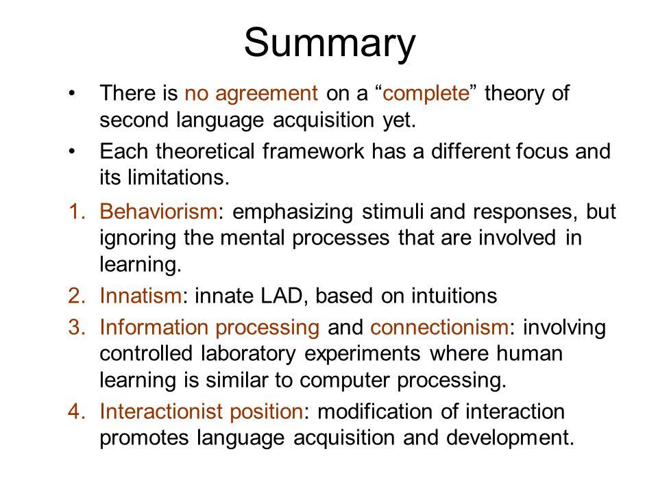 Behaviorism and innatism in la...