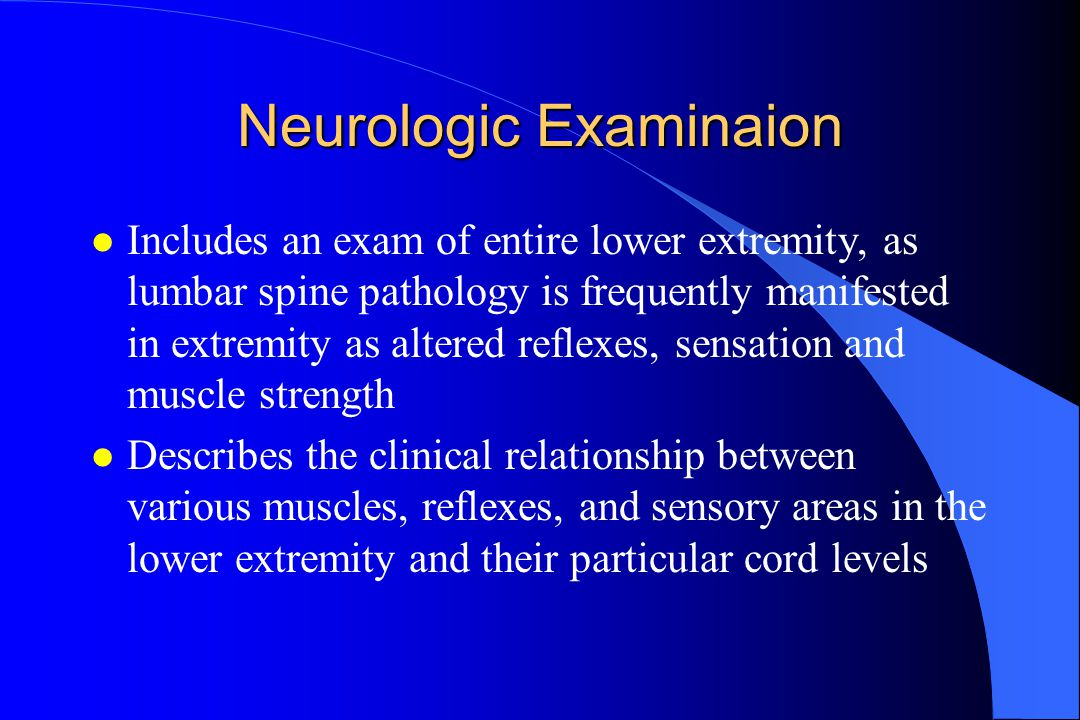 Neurologic Examinaion