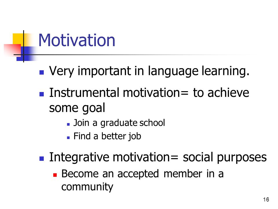 how motivate the second language learner essay Bond university epublications@bond humanities & social sciences papers faculty of humanities and social sciences 11-24-2009 second language learners' motivation and their.