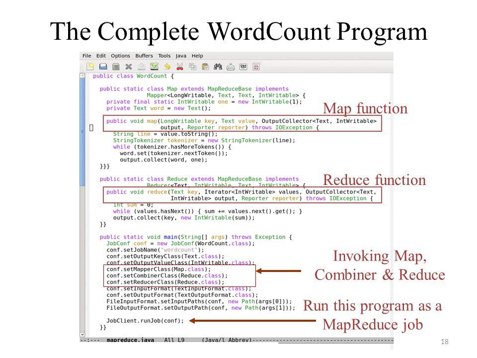 The Complete WordCount Program