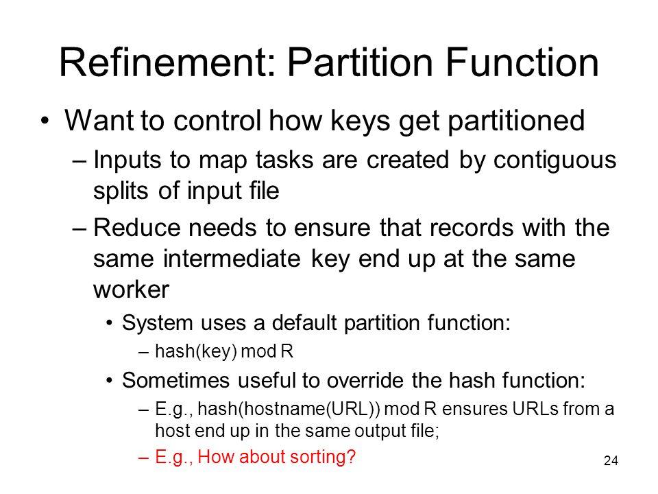 Refinement: Partition Function