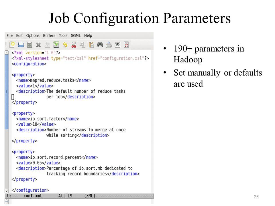 Job Configuration Parameters