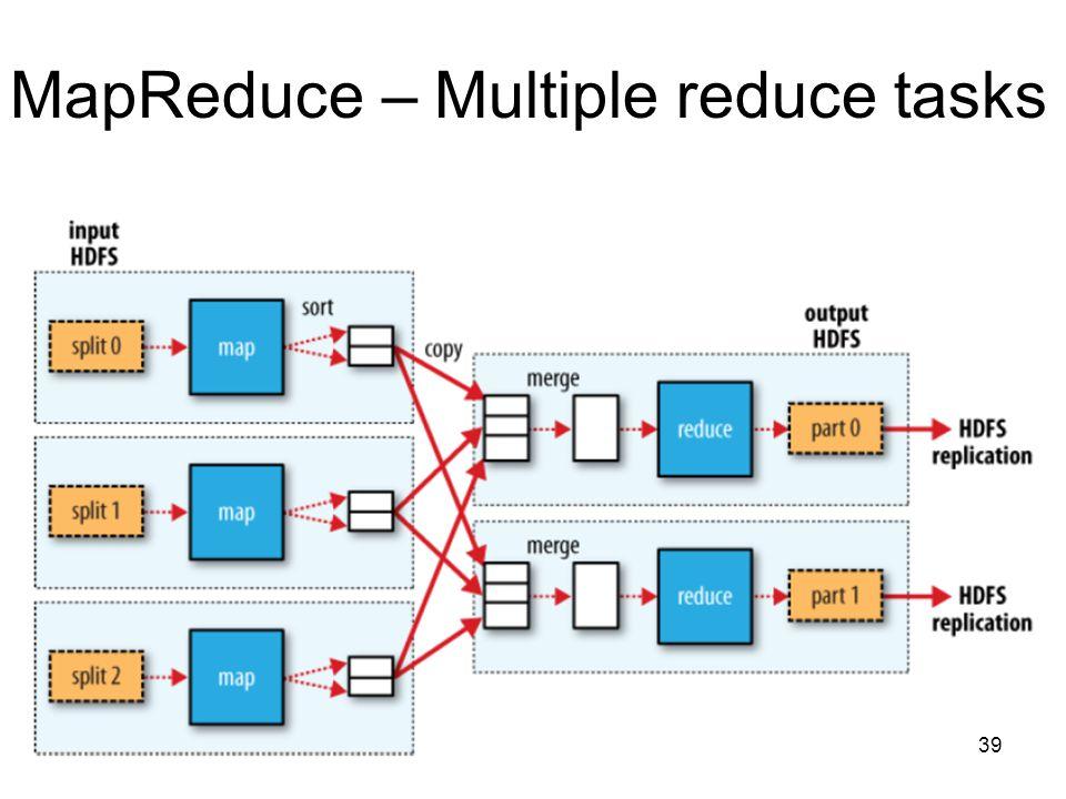 MapReduce – Multiple reduce tasks