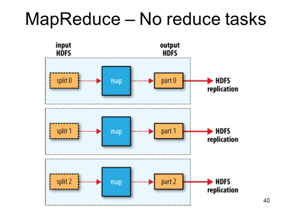 MapReduce – No reduce tasks