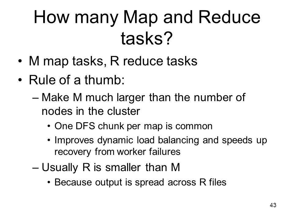 How many Map and Reduce tasks