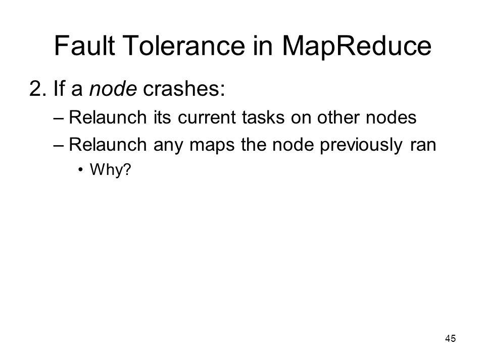 Fault Tolerance in MapReduce
