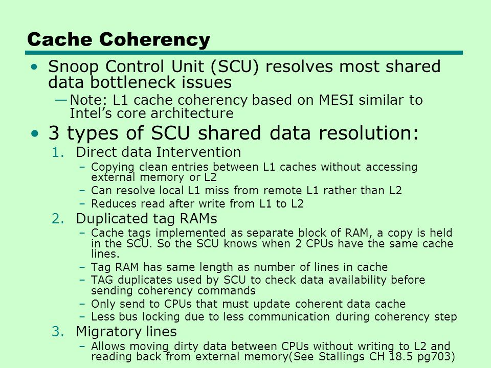 3 types of SCU shared data resolution: