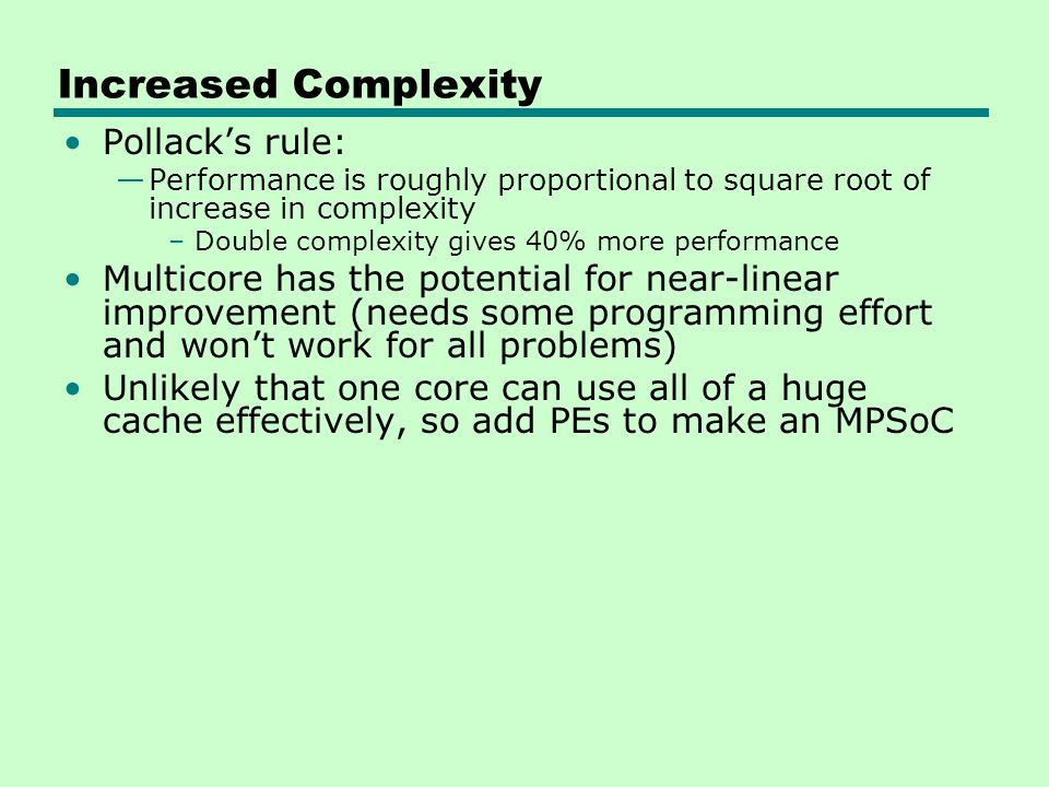Increased Complexity Pollack's rule: