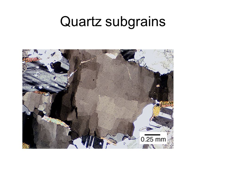 Quartz subgrains