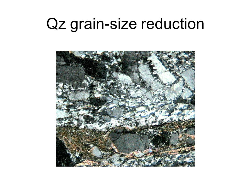 Qz grain-size reduction