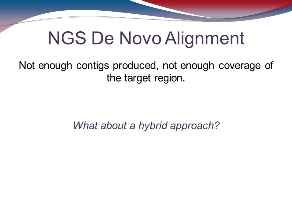 NGS De Novo Alignment Not enough contigs produced, not enough coverage of the target region. What about a hybrid approach