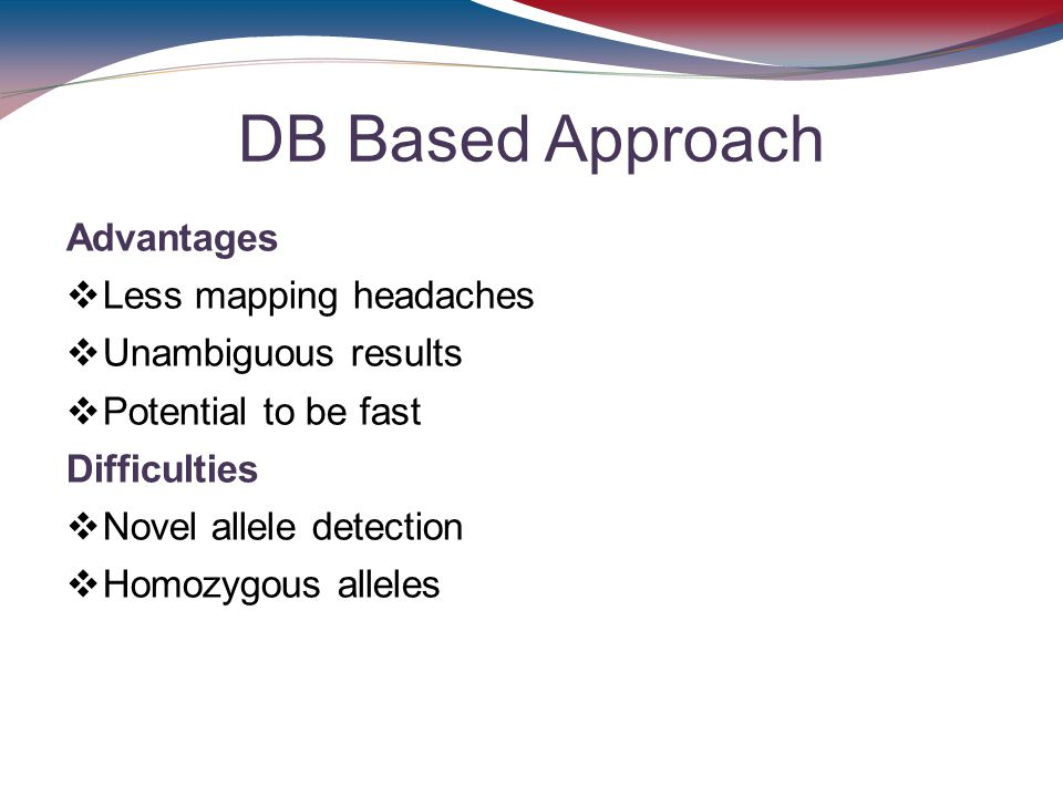 DB Based Approach Advantages Less mapping headaches