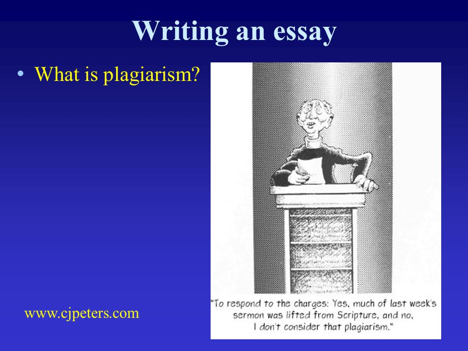 Writing an essay What is plagiarism www.cjpeters.com