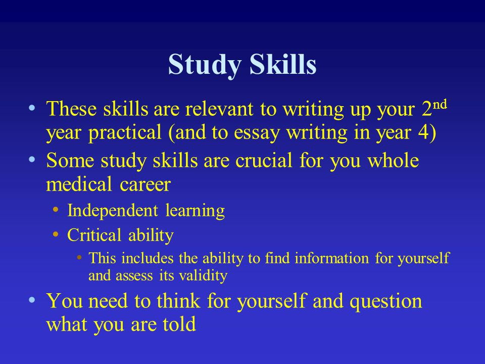 study skills and medical writing ppt  5 study