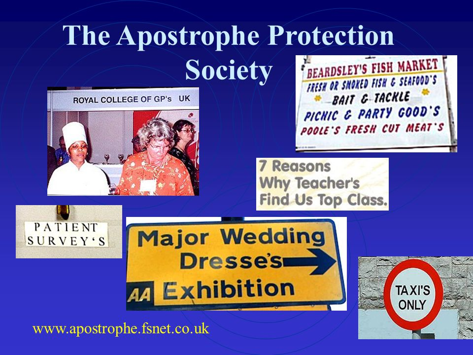 The Apostrophe Protection Society