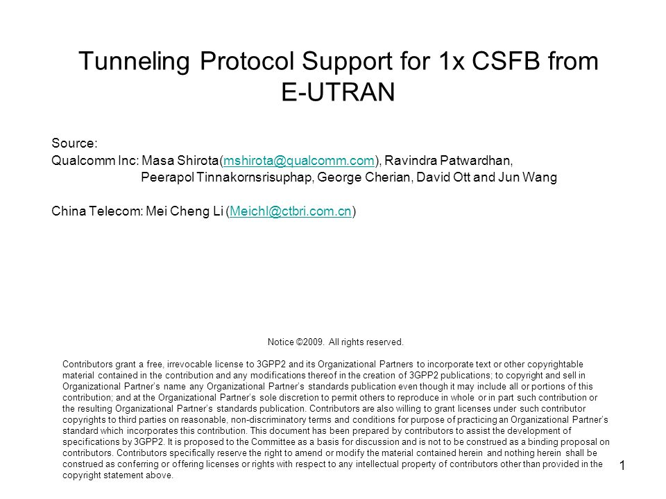 Tunneling Protocol Support for 1x CSFB from E-UTRAN