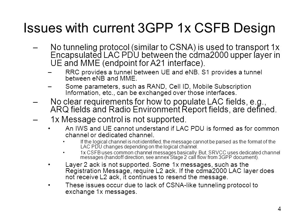 Issues with current 3GPP 1x CSFB Design