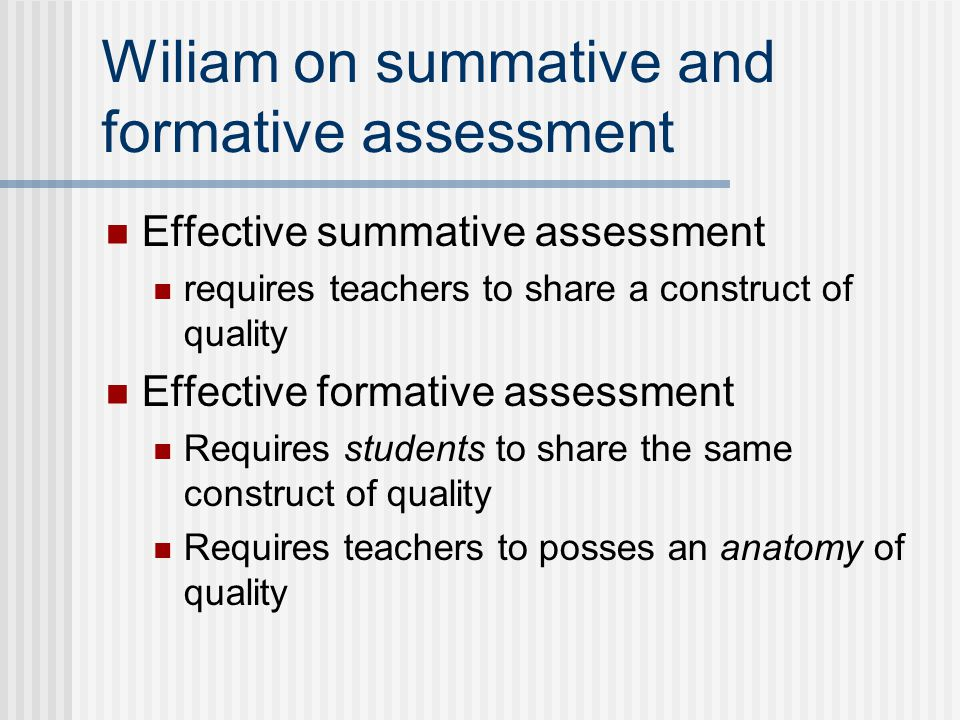 Wiliam on summative and formative assessment