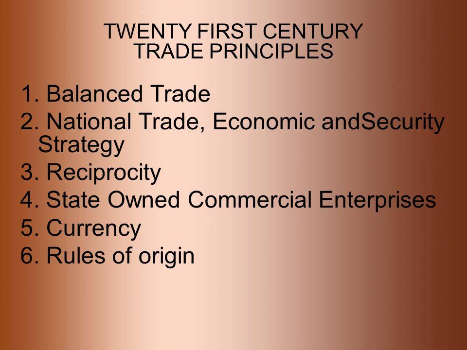 TWENTY FIRST CENTURY TRADE PRINCIPLES