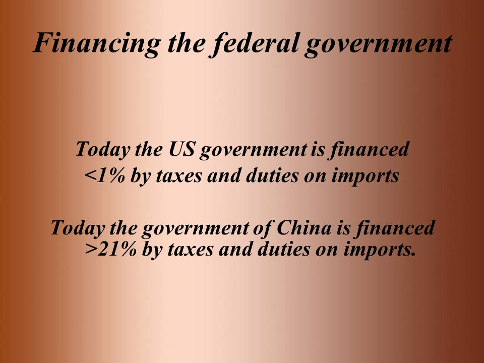Financing the federal government