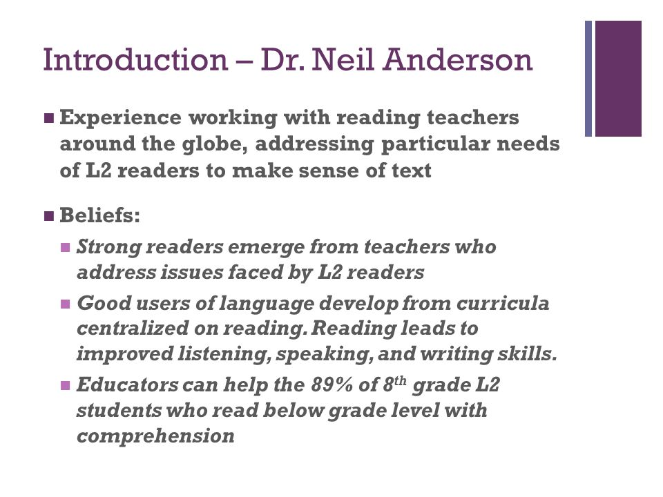 Introduction – Dr. Neil Anderson