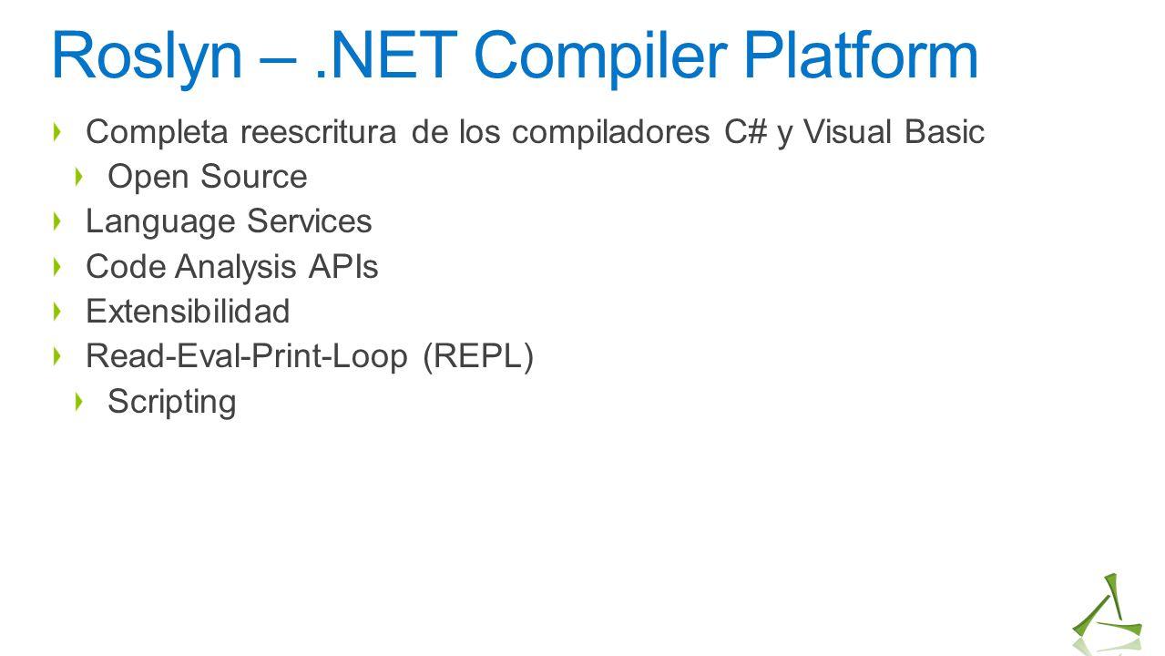 Roslyn – .NET Compiler Platform