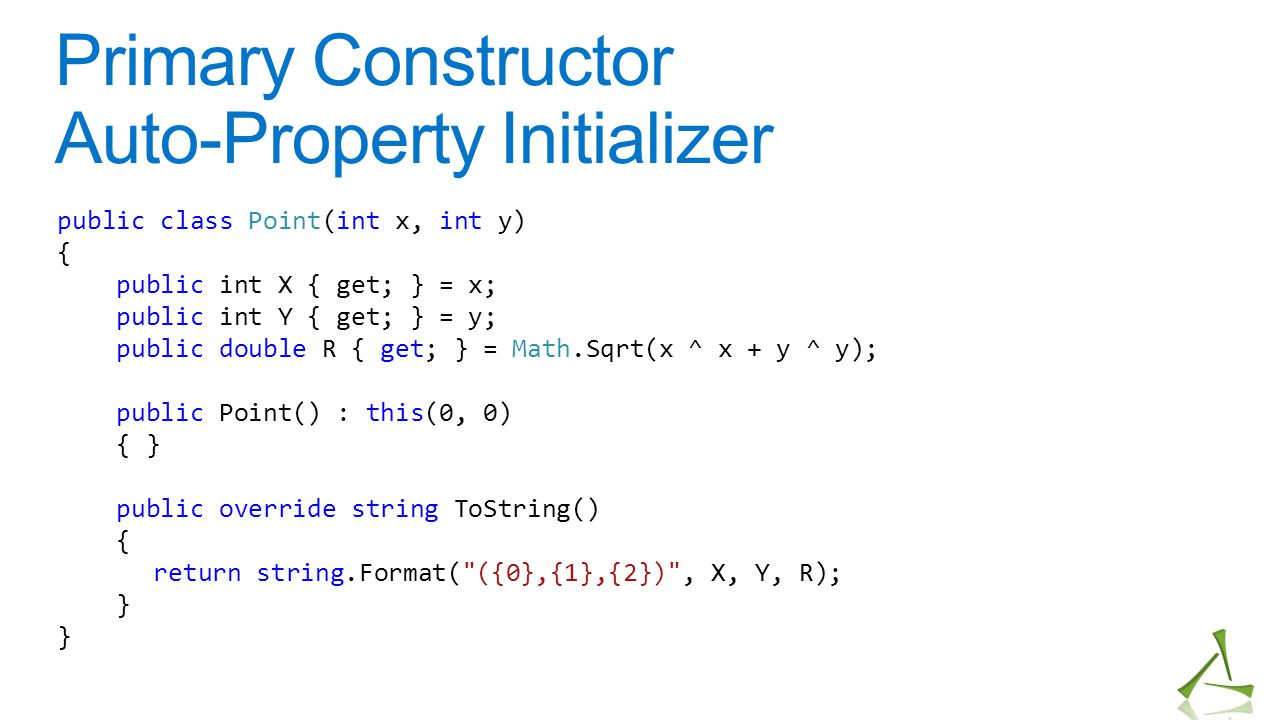 Primary Constructor Auto-Property Initializer