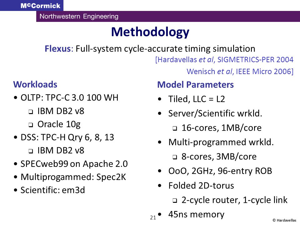 Flexus: Full-system cycle-accurate timing simulation