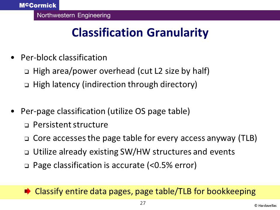 Classification Granularity