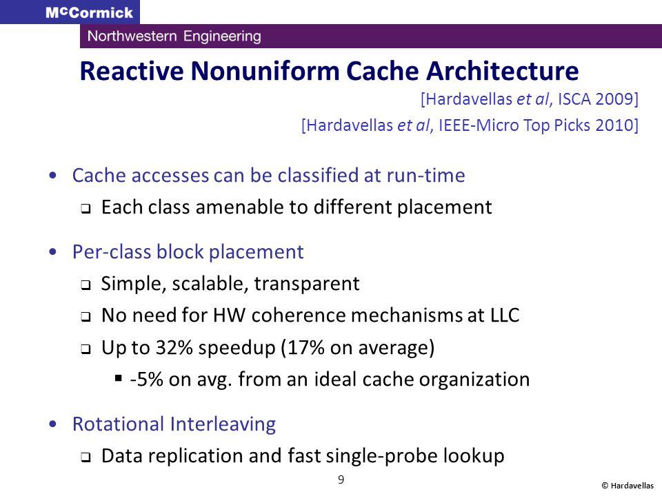Reactive Nonuniform Cache Architecture