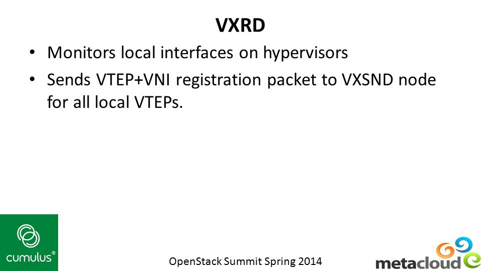 VXRD Monitors local interfaces on hypervisors