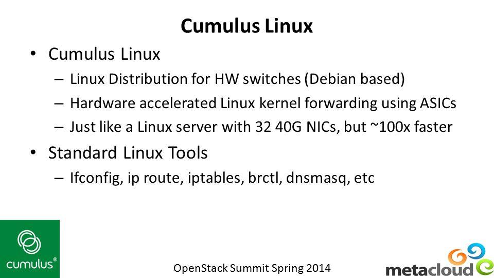 Cumulus Linux Cumulus Linux Standard Linux Tools