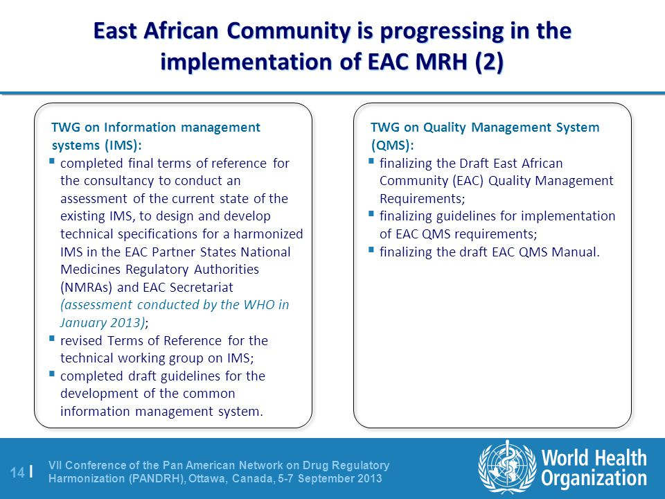 East African Community is progressing in the implementation of EAC MRH (2)