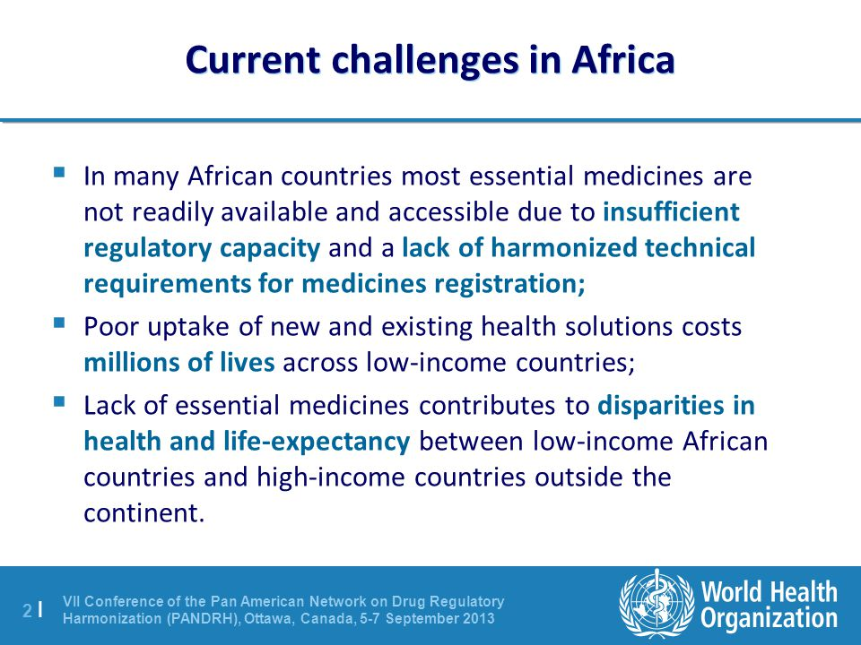 Current challenges in Africa