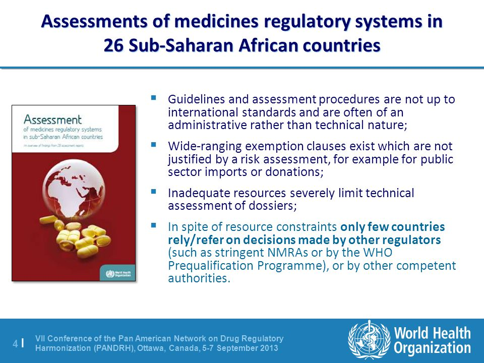 Assessments of medicines regulatory systems in 26 Sub-Saharan African countries