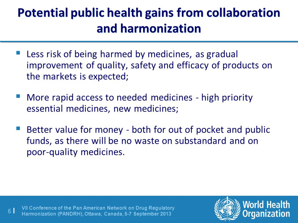 Potential public health gains from collaboration and harmonization