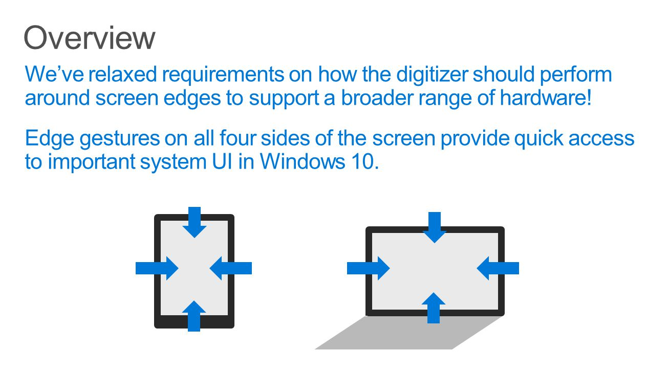 Overview We've relaxed requirements on how the digitizer should perform around screen edges to support a broader range of hardware!