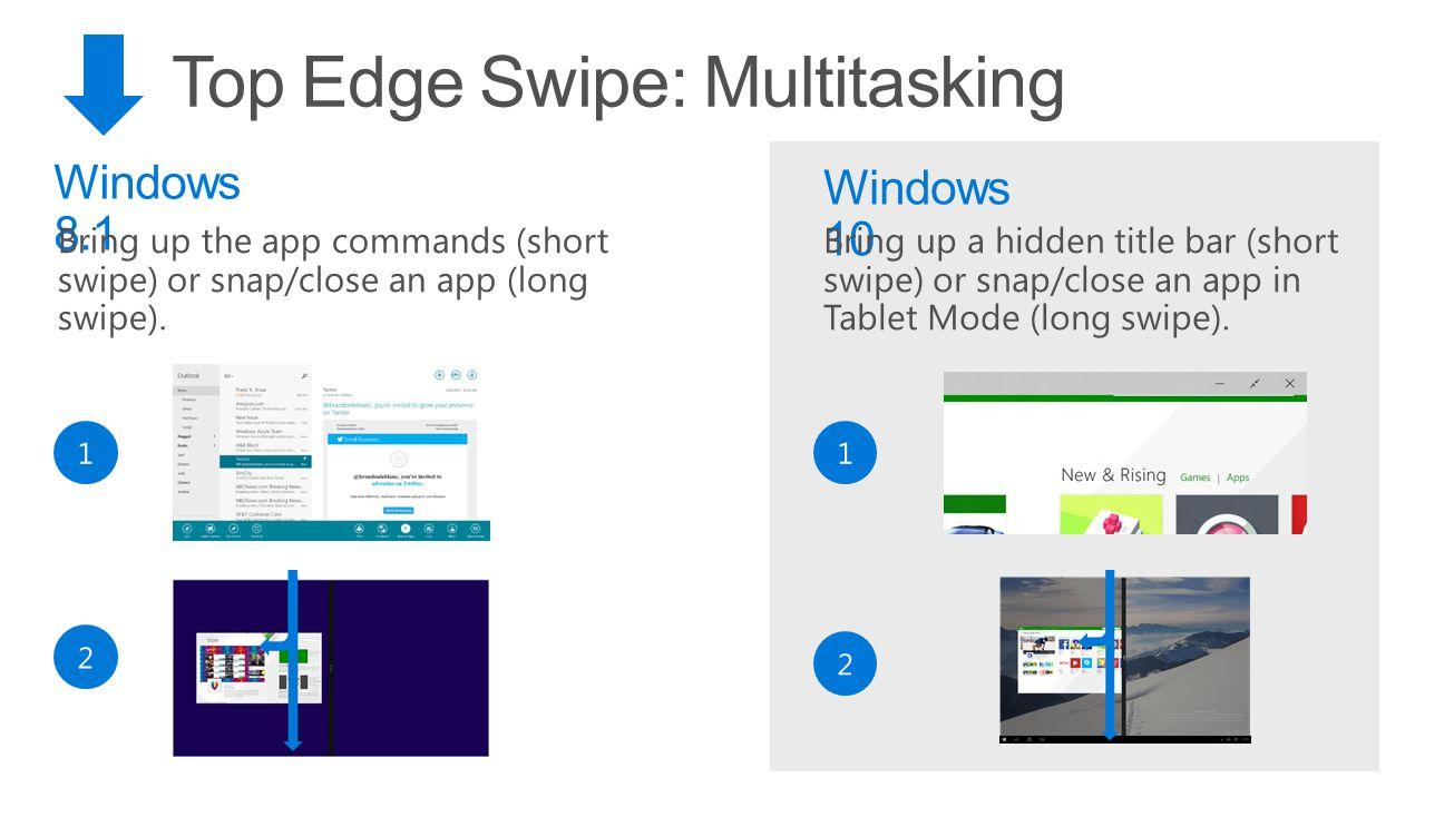 Top Edge Swipe: Multitasking