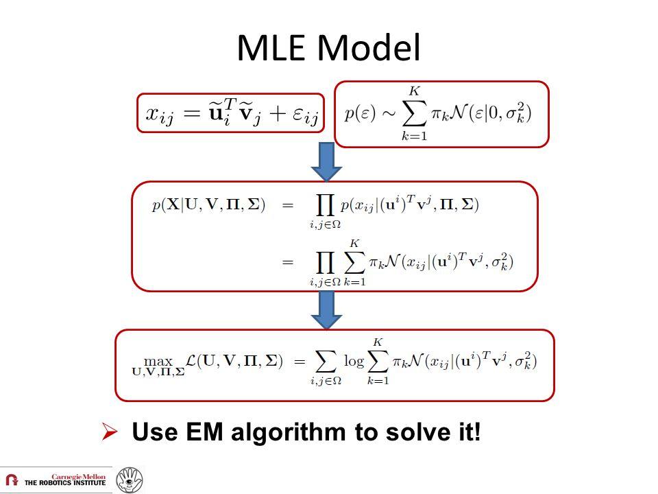 MLE Model Use EM algorithm to solve it!