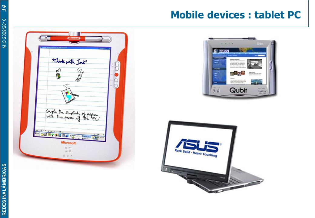 Mobile devices : tablet PC