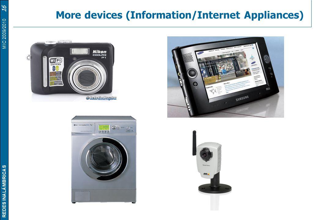 More devices (Information/Internet Appliances)