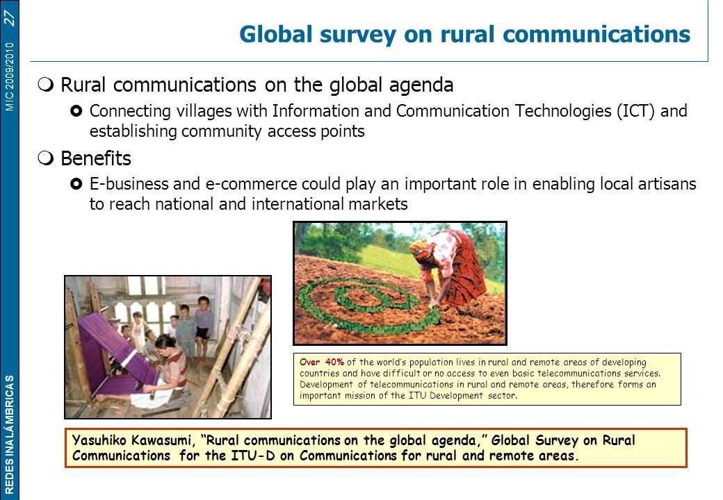 Global survey on rural communications