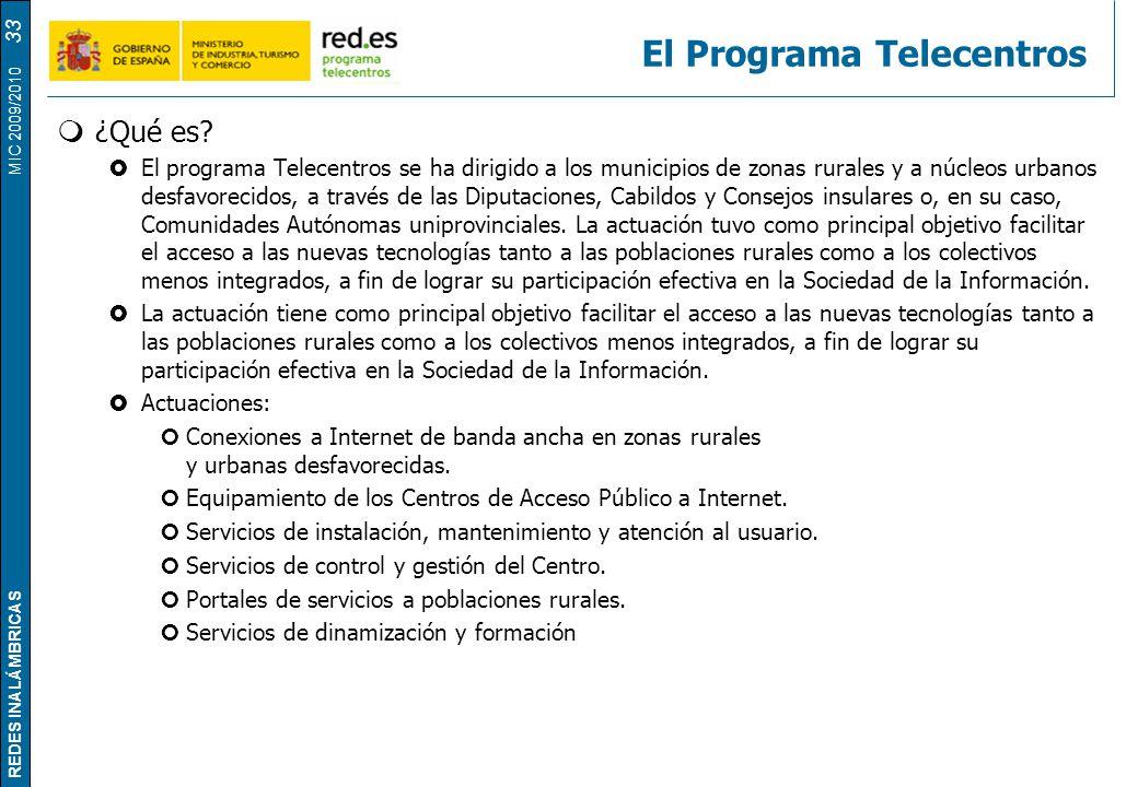 El Programa Telecentros