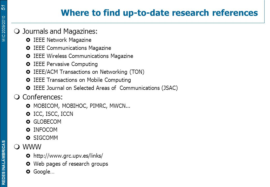Where to find up-to-date research references