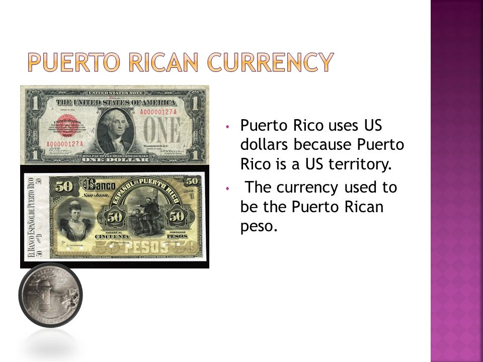 Puerto Rican currency Puerto Rico uses US dollars because Puerto Rico is a US territory.