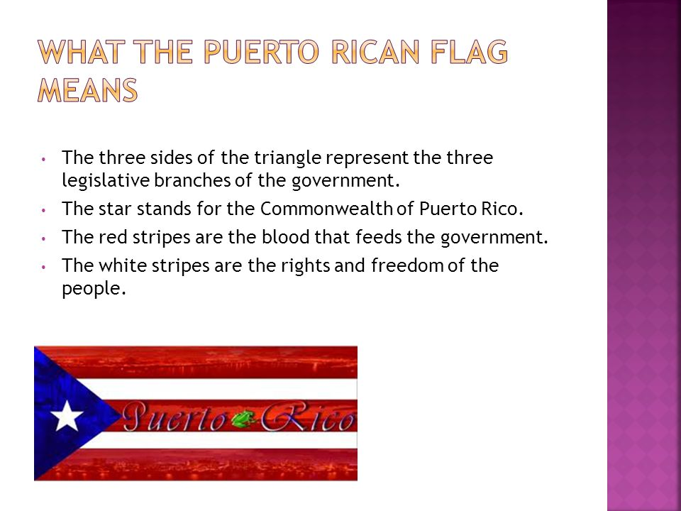 What the Puerto Rican flag means