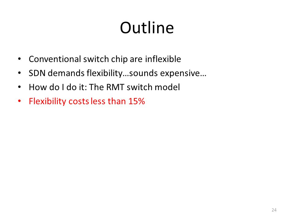 Outline Conventional switch chip are inflexible