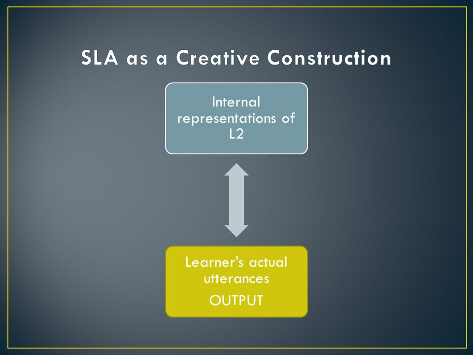 SLA as a Creative Construction