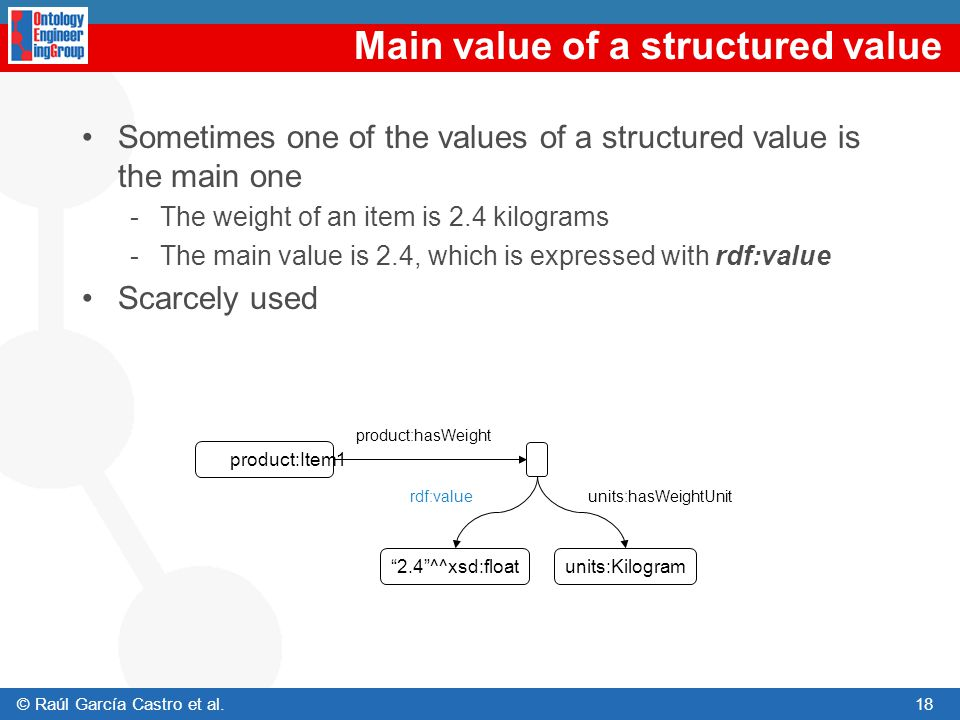 Main value of a structured value