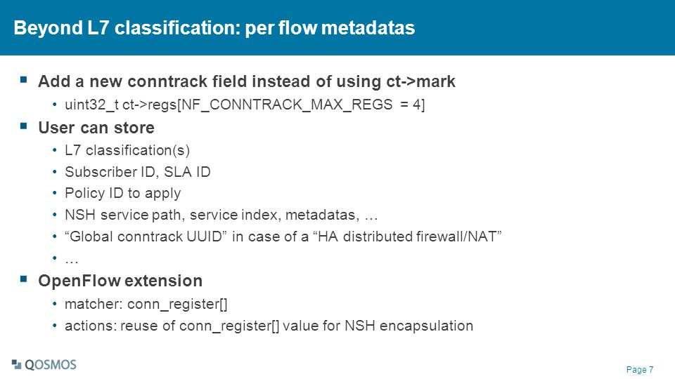 Beyond L7 classification: per flow metadatas